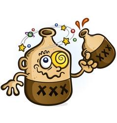 Moonshine cartoon character drinking vector