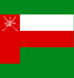 National flag sultanate of oman vector