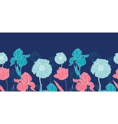 Night Flowers Seamless Repeat Pattern vector image