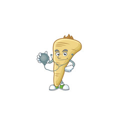 Parsnip cartoon character style as a doctor vector