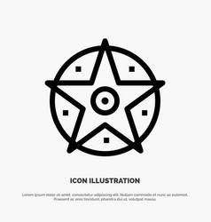 pentacle satanic project star line icon vector image