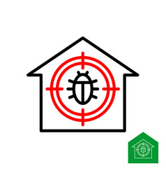 pest control logo roach bug with round aim symbol vector image