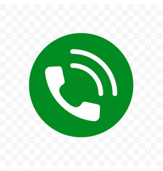 phone call icon phone receiver in green circle vector image