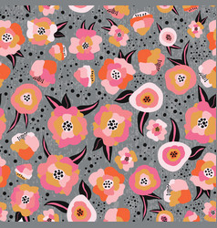 pink orange black gray gold scandinavian style vector image