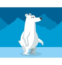 polar habitat related icons image vector image