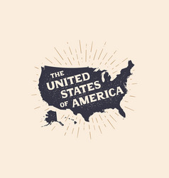 poster map united states america vector image