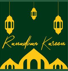 Ramadhan kareem greeting vector