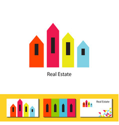 Real estate agency logo concept vector