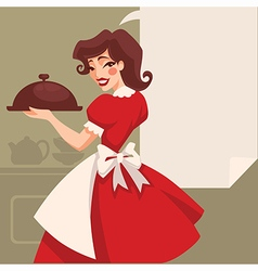 retro cooking vector image