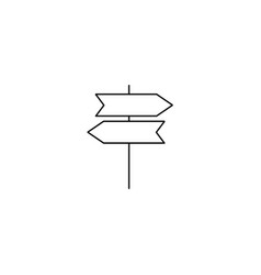 road direction sign - icon vector image