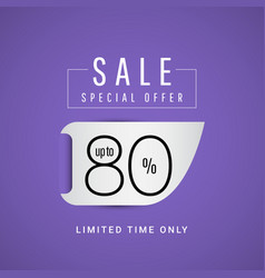Sale special offer up to 80 limited time only vector