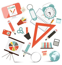 School or Business - Office Objects Set vector image