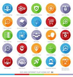 seo icons set 02f vector image