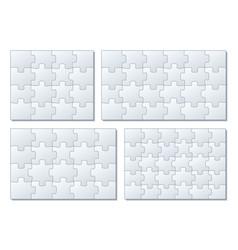 sets puzzle pieces 4 x 4 vector image