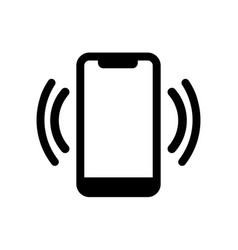 Smart phone in silent mode icon or mobile phone vector
