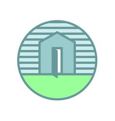 soft open house emblem vector image