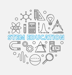 Stem education round in thin vector