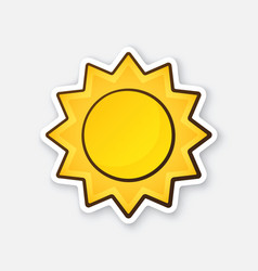 Sticker cute sun vector