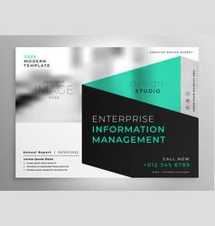 Stylish geometric professional brochure template vector