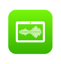 tablet icon green vector image