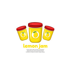 template logo for lemon jam vector image