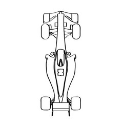 Top view of a racing car vector