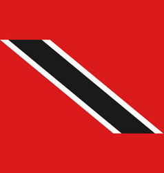 trinidad and tobago flag icon in flat style vector image