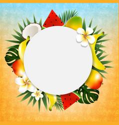tropical ball banner vector image