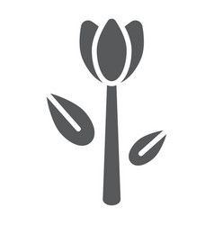 tulip glyph icon floral and plant flower sign vector image