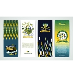Vertical banners set with Brazil Carnival vector