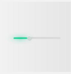 Very high detailed white user interface slider vector