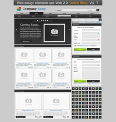 Web store template vector