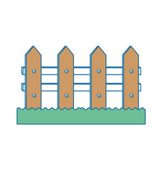 Wooden fence icon vector
