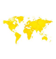 yellow geometric blank world map vector image