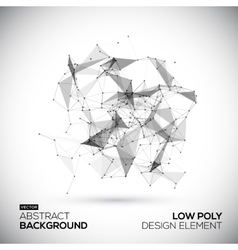 Abstract low poly geometric technology vector image