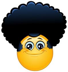 afro emoticon vector image