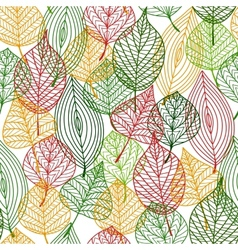 Autumnal leaves seamless pattern vector image vector image