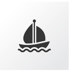 boat icon symbol premium quality isolated sail vector image