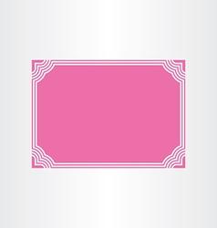 certificate border frame design vector image vector image