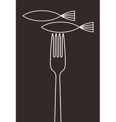 Fish restaurant menu card vector image vector image