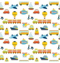 Seamless pattern with colorful transport Cute vector image vector image