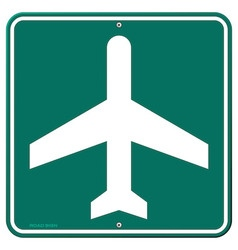 Airplane Travel Sign vector image vector image