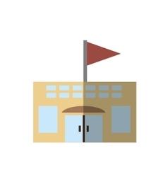 building school classroom student shadow vector image