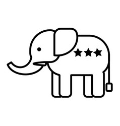 elephant head line icon sign vector image