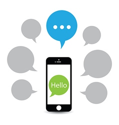hello phone vector image