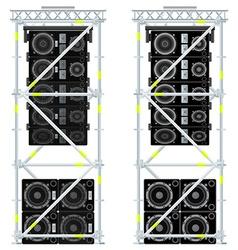 Line array concert acoustics scaffold suspension vector
