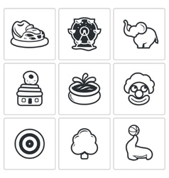 Amusement icons vector image vector image