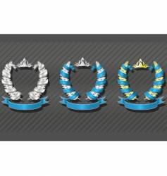 emblems series wreath vector image