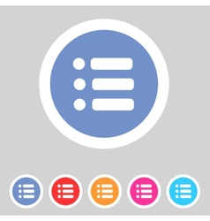 Flat game graphics icon menu vector image