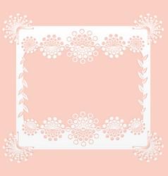 floral frame paper vector image